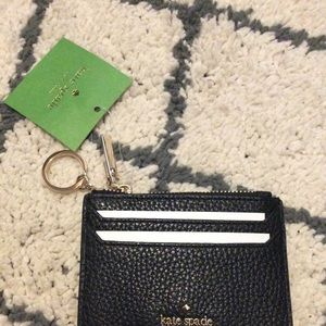 NWT Kate Spade leather card holder+zip pouch